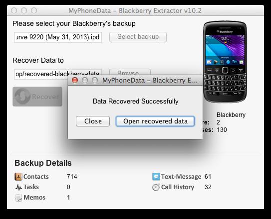 Data Recovery - BlackBerry World